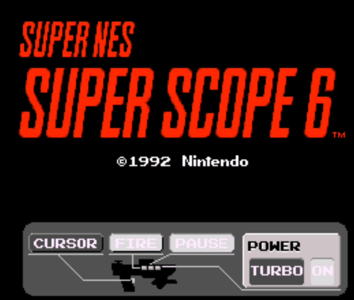 Super Scope 6 Title Screen