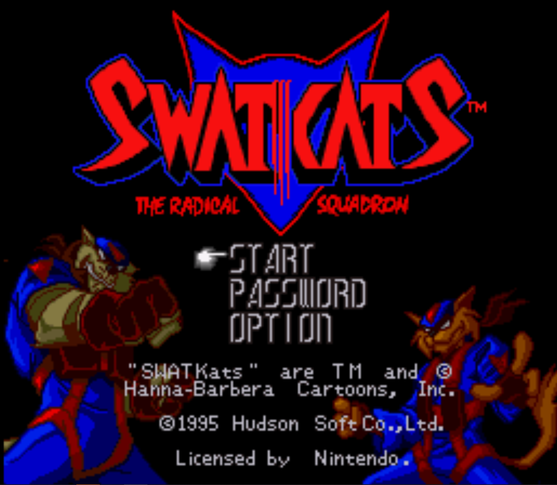 SWAT Cats Title Screen
