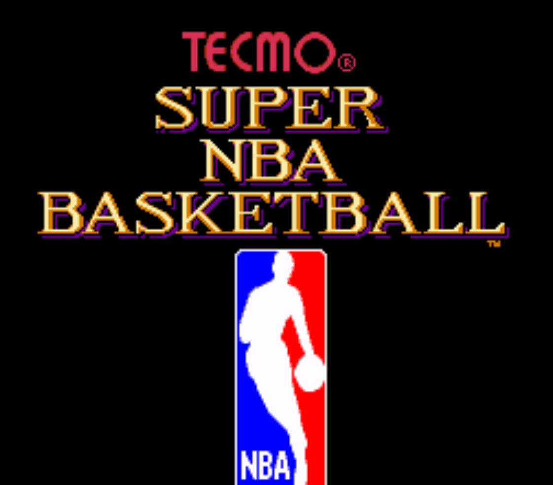 Tecmo Super NBA Basketball Title Screen