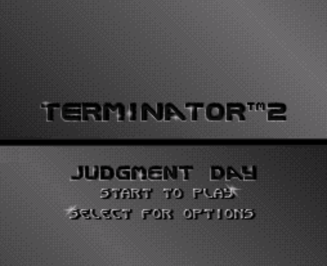 Terminator 2 Judment Day Title Screen