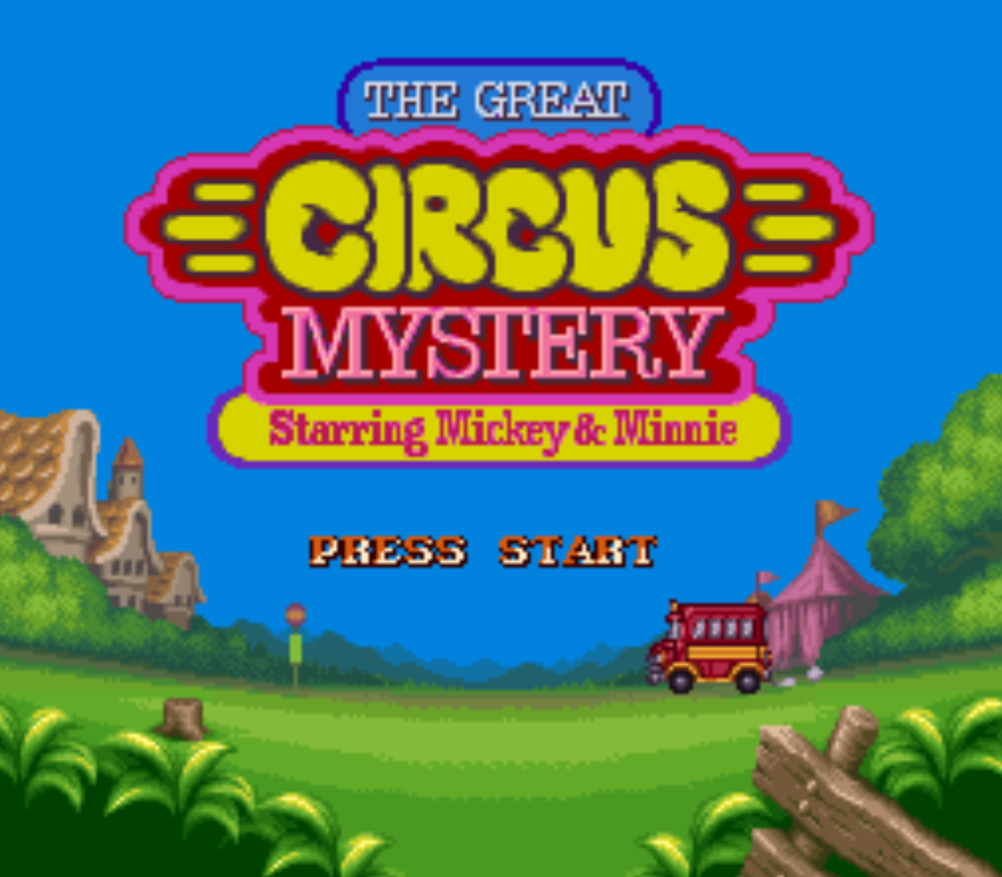 The Great Circus Mystery Title Screen