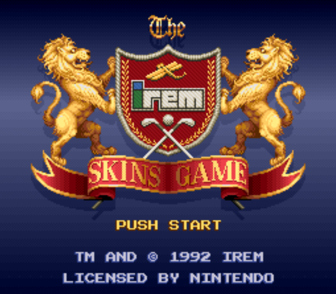 Irem Skins Game Title Screen