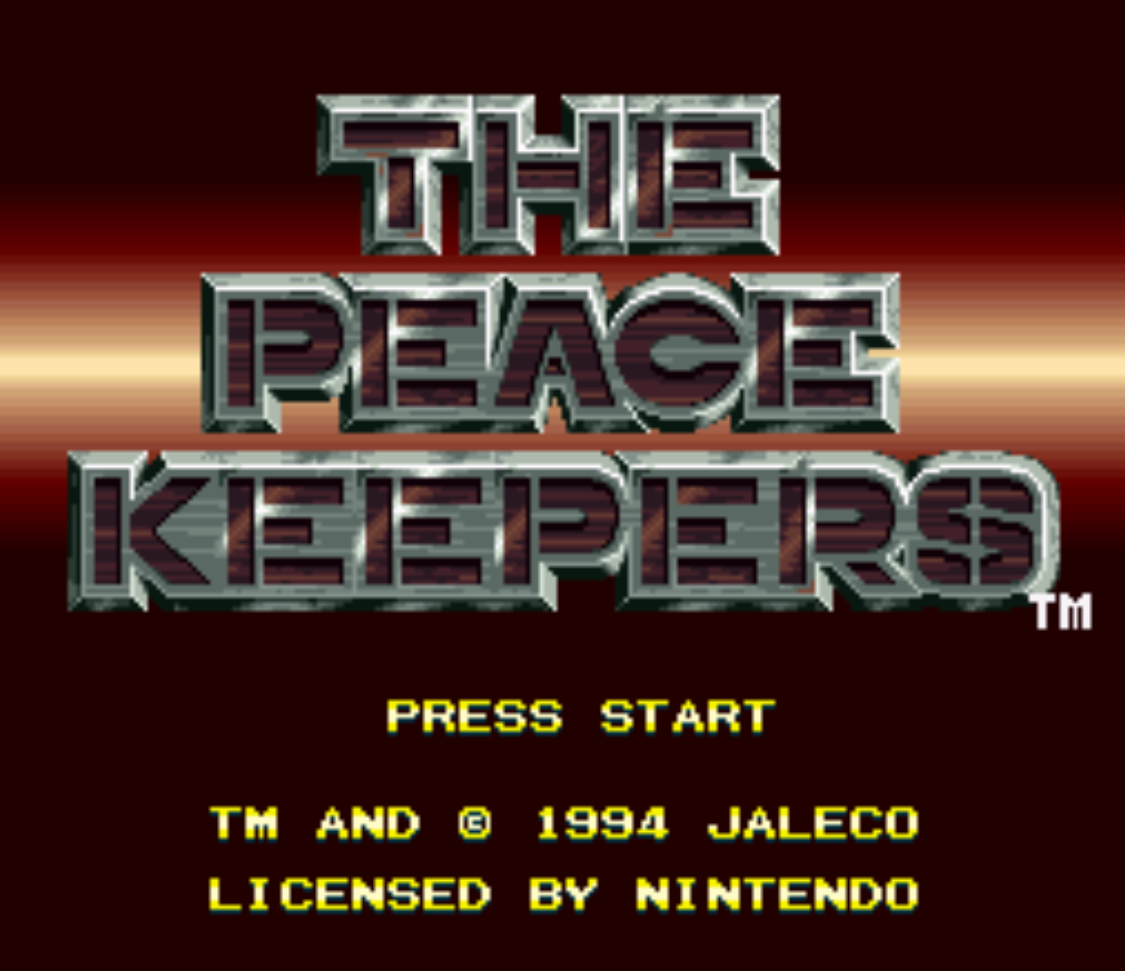 The Peace Keepers title Screen