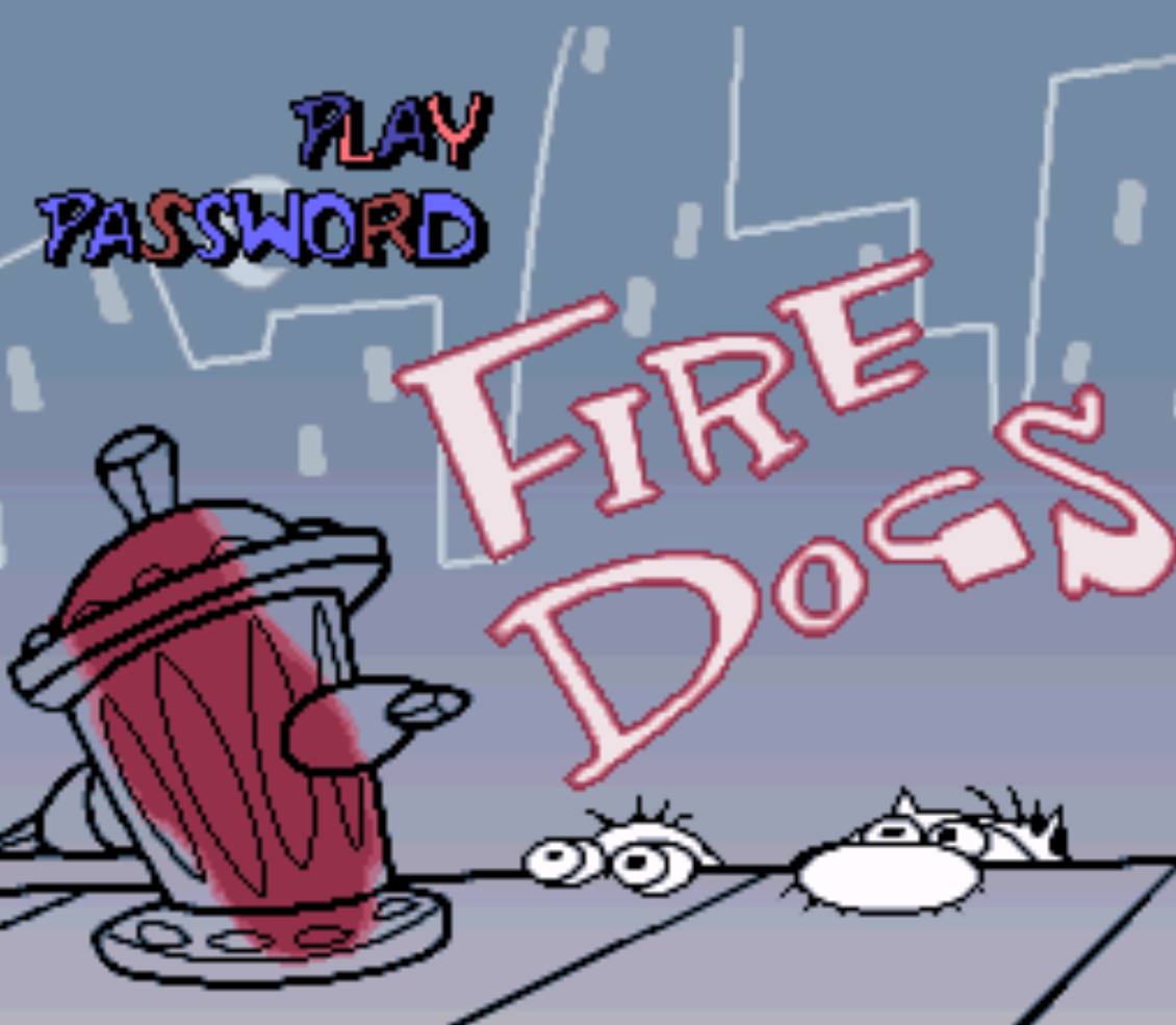 Ren and Stimpy Fire Dogs Title Screen