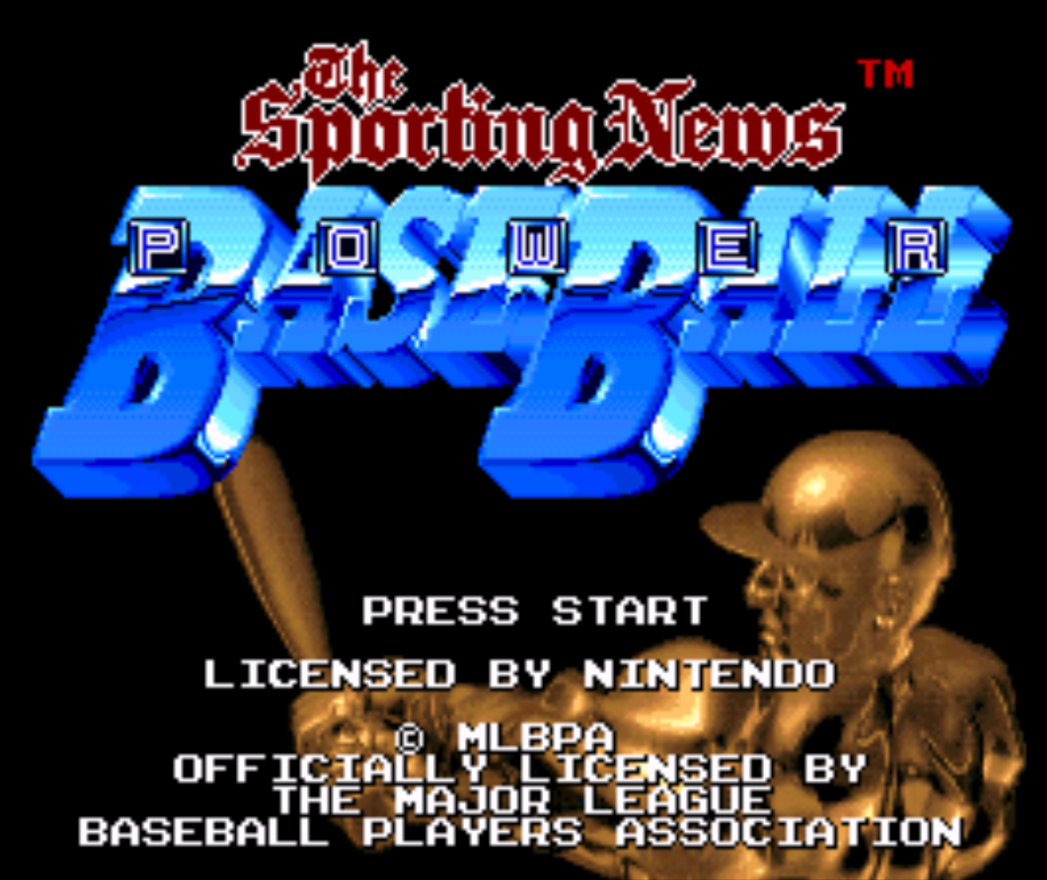 The Sporting News Baseball Title Screen