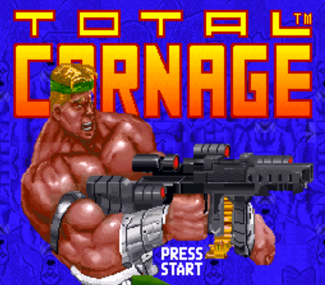 Total Carnage Title Screen