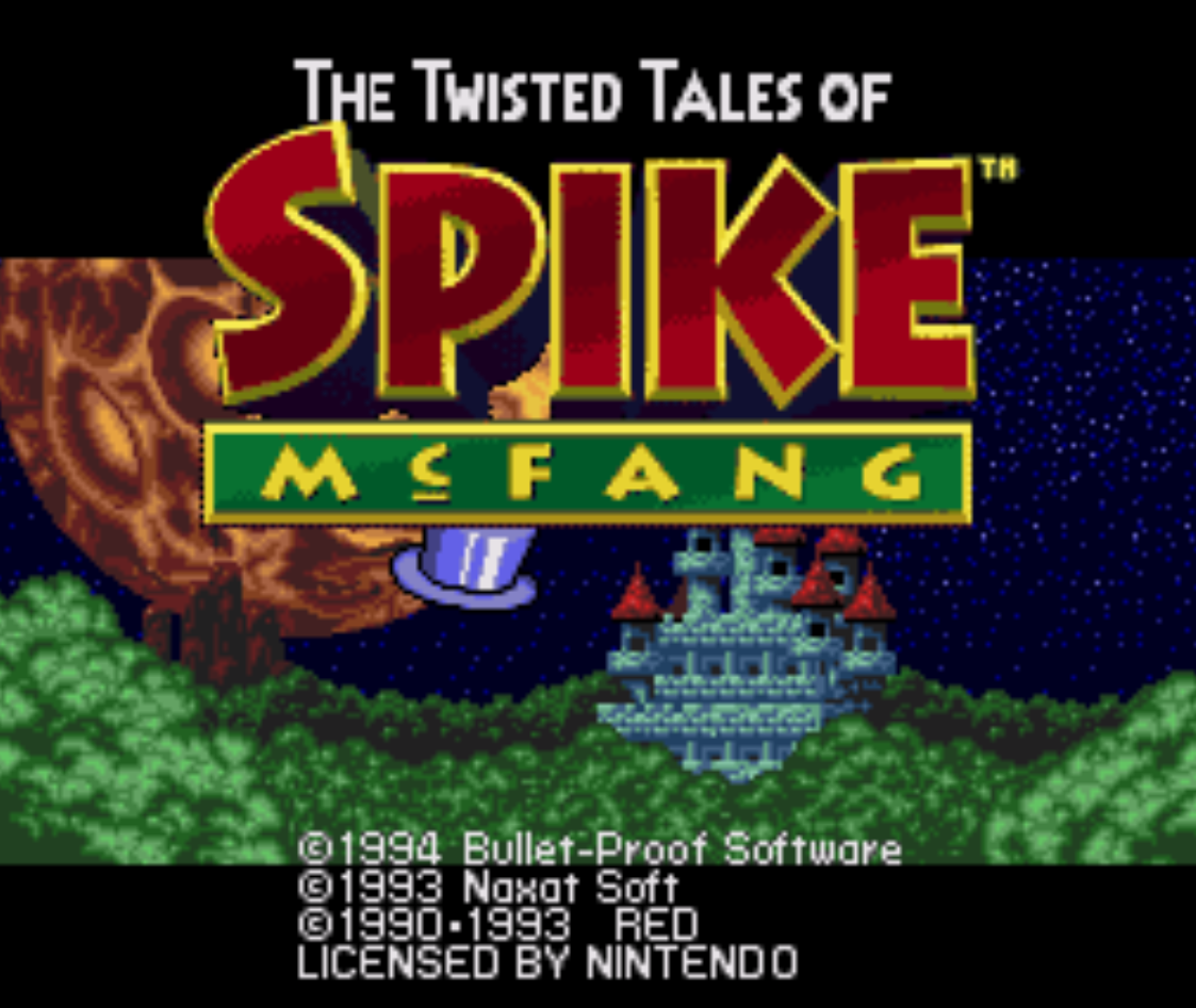 The Twisted Tales of Spike McFang Title Screen