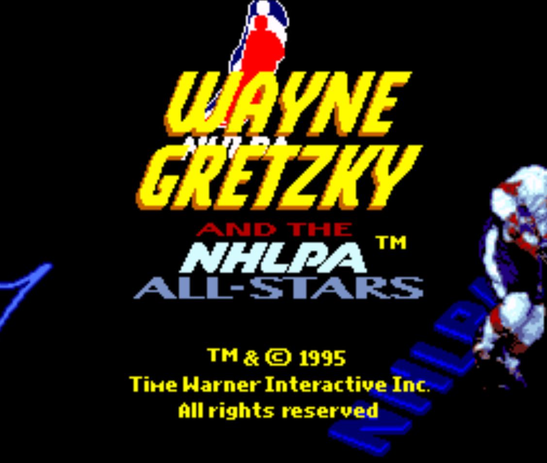 Wayne Gretzky and the NHLPA All-Stars Title Screen