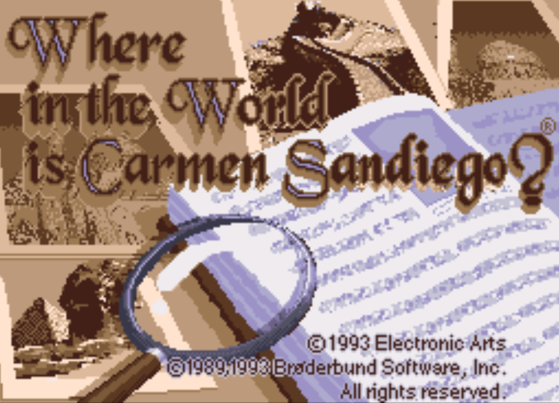 Where in the world is carmen sandiego title screen