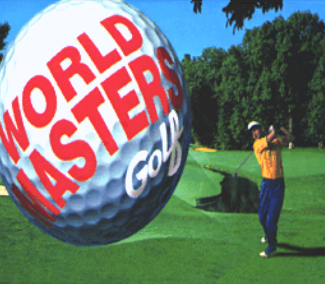 World Masters Golf Title Screen
