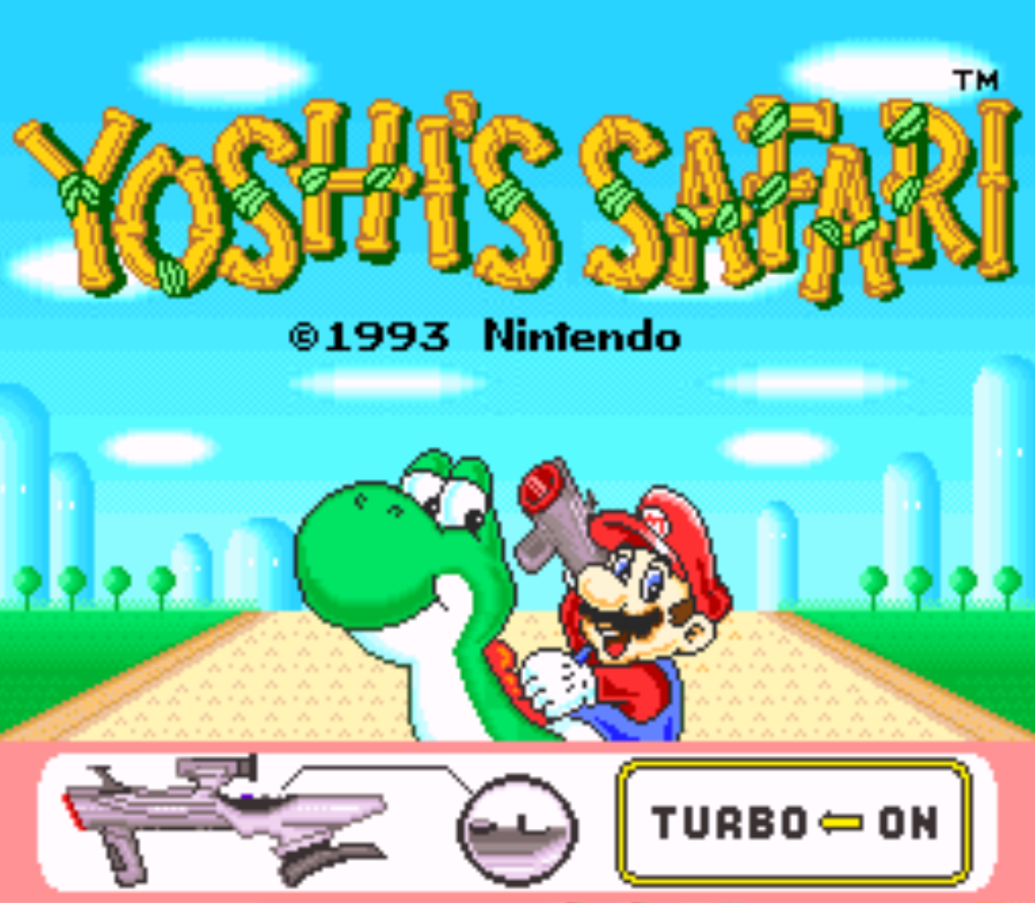 Yoshis Safari Title Screen