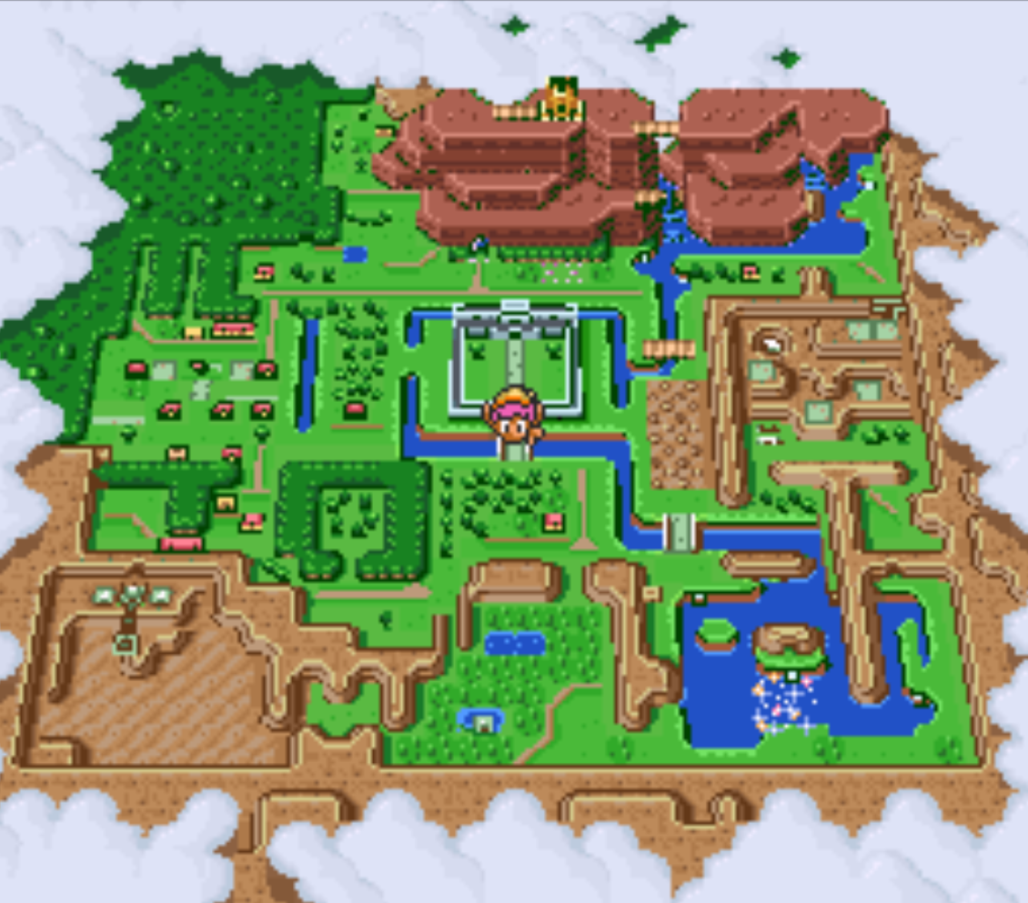Hyrule Castle Dark World Portal Map Location