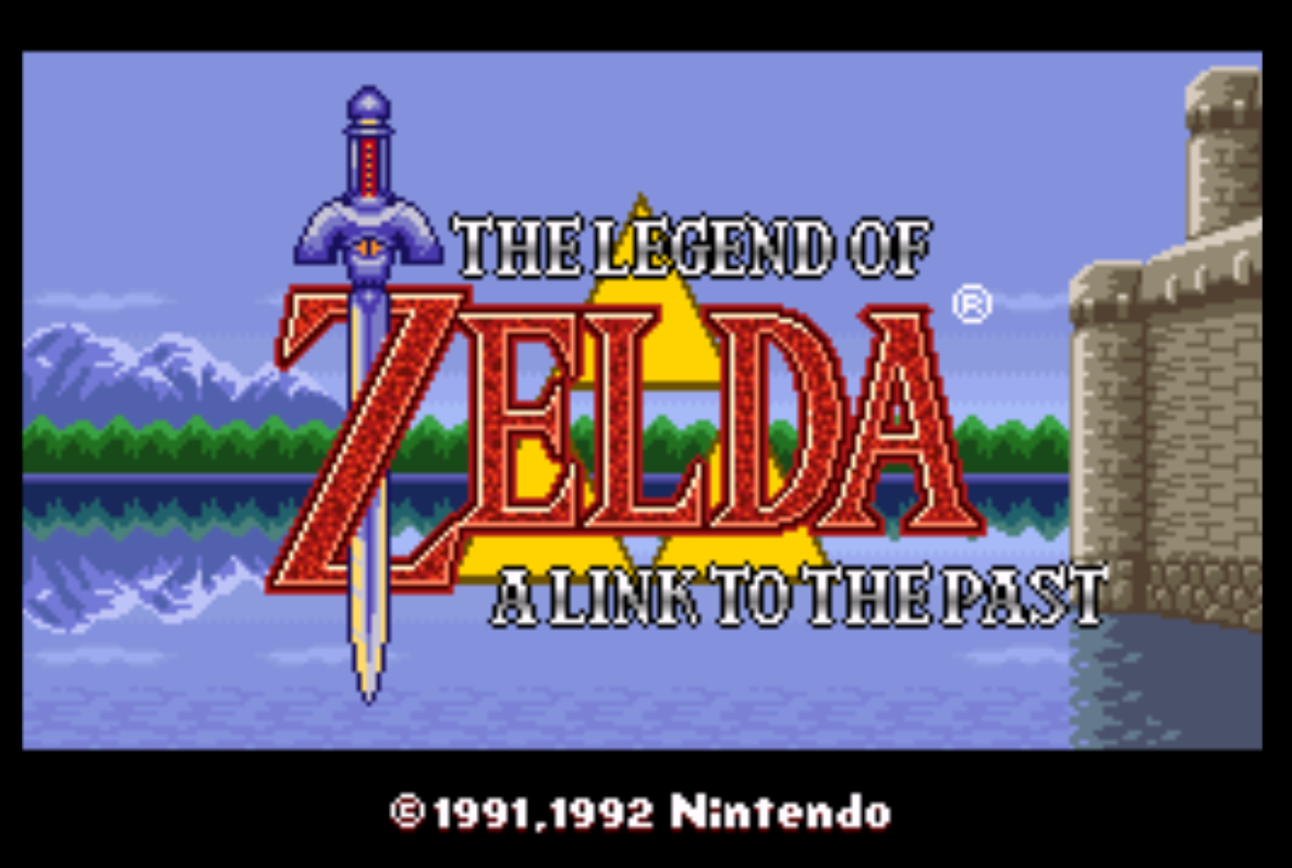 Zelda A Link to the past Title Screen